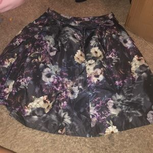 Pink Tartan Floral Skirt